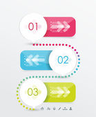 Option or number banners template, graphic or website layout.  — Stock Vector
