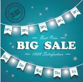 Stor försäljning affisch, 5 dagar vid försäljning — Stockvektor