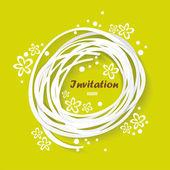 Green congratulation vintage invitation card — Stock Vector