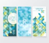 Banners with pattern of geometric shapes — Stock Vector