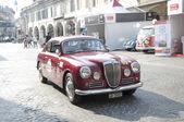 Famous race retro cars Mille Miglia — Stock Photo