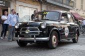 Retro samochodów znane wyścigu Mille Miglia — Zdjęcie stockowe