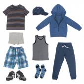Set of clothes for boy — Stock Photo