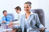 Framgångsrik affärskvinna — Stockfoto