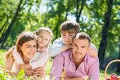 Wochenende mit familie — Stockfoto