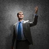Empresário de gestos — Foto Stock