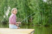 Summer fishing — Stock Photo
