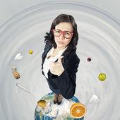 Cheerful businesswoman — Stock Photo