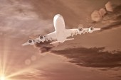 Flying airplane — Stock Photo