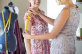 Dressmaker at work — Stock Photo