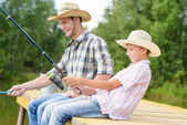 Summer angling — Stock Photo
