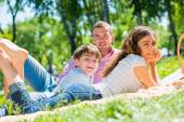 Weekend with family — Stock Photo