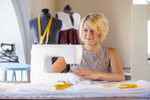 Seamstress at work — Stock Photo