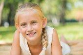 Girl enjoying summertime — Stock Photo
