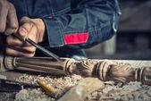 Iş yerinde bir marangoz — Stok fotoğraf