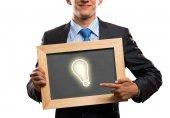 Empresario con marco — Foto de Stock