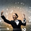 Businesswoman screaming in mobile phone — Stock Photo #60554065