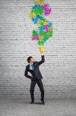 Businessman  Creative thinking — Stock Photo
