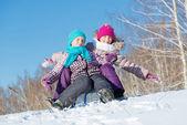 Two cute girls having fun — Stock Photo