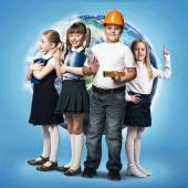 Children trying different professions — Stock Photo