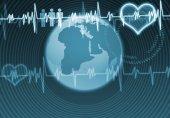 Digital bakgrunden hjärtat vård — Stockfoto