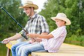 Estate pesca — Foto Stock