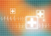 Digital background Heart care — Stock Photo