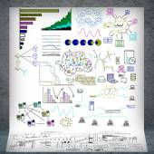 Business planning sketches — Foto de Stock