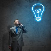 Businessman Idea concept — Stock Photo