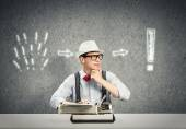 Young Guy writer — Stock Photo