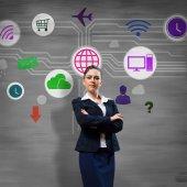 Interface application icons presentation — Stock Photo