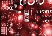 Innovative technologies. Digital business background — Stock Photo