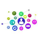 User interface colorful application icons — Φωτογραφία Αρχείου