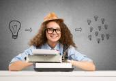 Young Girl writer — Foto de Stock