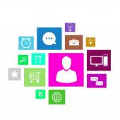 User interface colorful application icons — Stockfoto