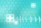 Heart care Digital background — Stock Photo
