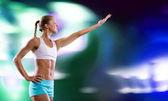Young attractive fitness girl — Stock Photo