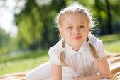 Girl enjoying summertime — Foto de Stock