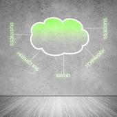 Computing cloud business icons — Stock Photo
