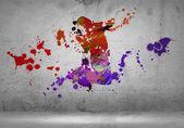 Sagoma astratta del ballerino — Foto Stock