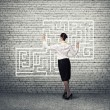 Businesswoman Finding solution! — Stock Photo #65254961