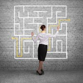 Businesswoman Finding solution! — Stock Photo