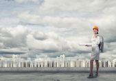 Młody inżynier kobieta — Zdjęcie stockowe
