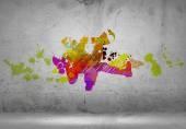 Abstracte danser silhouet — Stockfoto