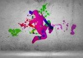 Silueta de bailarina abstracta — Foto de Stock