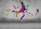 Abstract dancer silhouette — Stock Photo