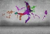 Soyut siluet dancer — Stok fotoğraf