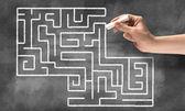 Konceptuální labyrint vzor — Stock fotografie