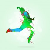 Abstract silhouette of dancer — Stock Photo