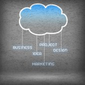Computing cloud business icons — Foto de Stock